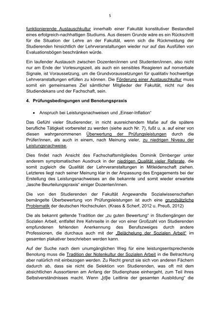 Stellungnahme zum Lehrbericht 2012 zur Vorlage beim ...