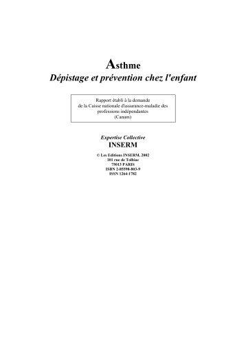 Asthme. Dépistage et prévention chez l'enfant (2002) - Inserm
