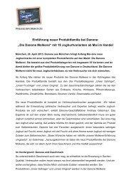 """Einführung neuer Produktfamilie bei Danone: """"Die ... - fh-news.de"""