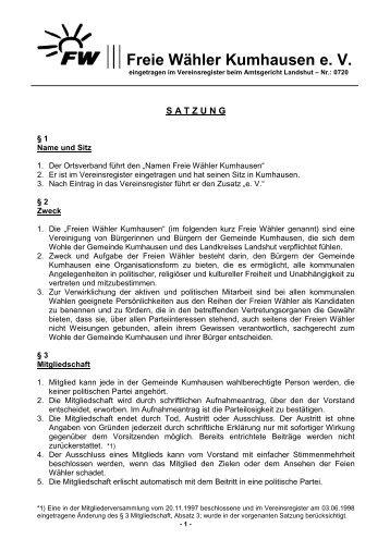 Freie Wähler Kumhausen e. V.
