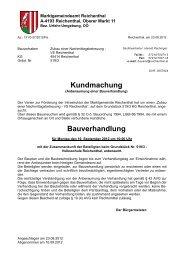 Kundmachung Bauverhandlung - Marktgemeinde Reichenthal