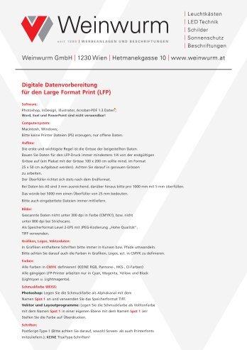 Datenblatt für Druckdaten