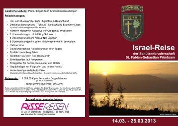 Gruppenreise Flyer Israel Schützen.cdr - Pastoralverbund Bad Driburg