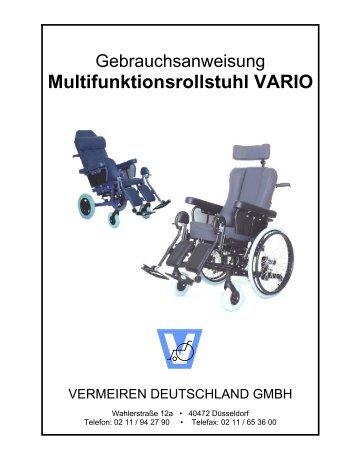 Multifunktionsrollstuhl VARIO - Vermeiren