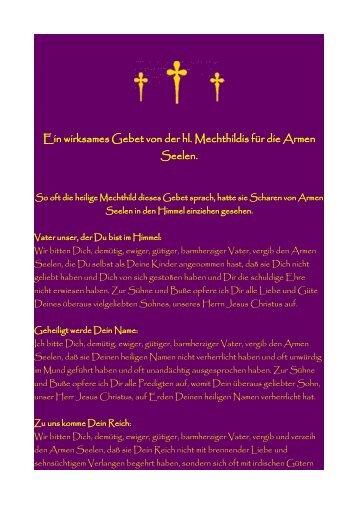 Mechthilds Gebet für die Armen Seelen! - Haberstroh, Rudi