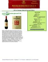 2011er Changyu Cabernet Gernischt Blend - Genuss7.de