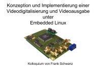 Konzeption und Implementierung einer Videodigitalisierung und ...
