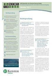 KP NEWS 10.2011 – bAV-Newsletter der Kenston Pension GmbH