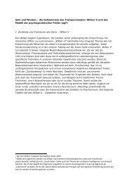 Wilber-V und das Modell der psychogenetischen Felder