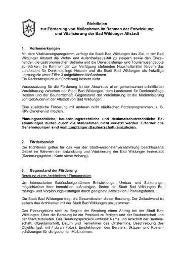 Förderprogramm der Stadt Bad Wildungen - Lehmbau & Sanierung