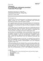 Abkommen zur Erhaltung der afrikanisch-eurasischen ... - LexFind
