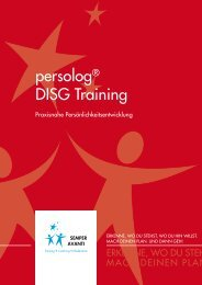 persolog® DISG Training - semperavanti