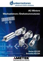 AC-Motors Wechselstrom-/Drehstrommotoren - Dunkermotoren