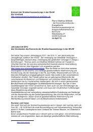 Jahresbericht 2012 - Evangelische Krankenhausseelsorge in ...