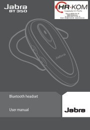 Bluetooth headset User manual - HR-Kommunikation