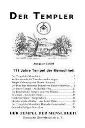 templer3 2009 - Der Tempel der Menschheit