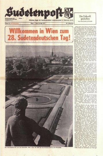 Willkommen in Wien zum 28. Sudetendeutschen Tag! - Sudetenpost