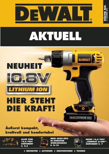 Q3 2010 cordless Section DE:DEWALT Q1 2009  ... - Wewo