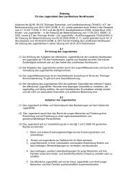 Satzung des Jugendamtes - Landratsamt Nordhausen