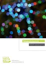 Tätigkeitsbericht 2012 MDA basecamp