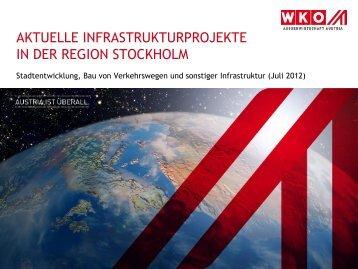 Infrastrukturprojekte in Stockholm