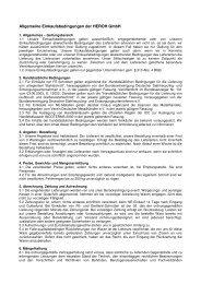 AGB Einkaufsbedingungen der HEROH GmbH