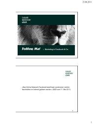 Marketing in Facebook & Co.pdf - Bratschi Wiederkehr & Buob