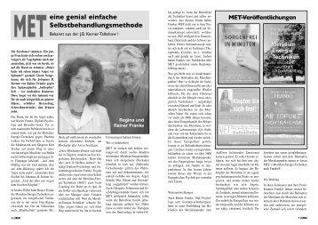 """Titelgeschichte im Magazin """"Leben"""" Ausgabe ... - MET nach Franke"""