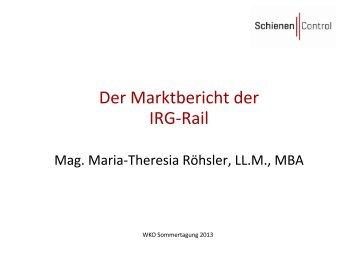 Der Marktbericht der IRG-Rail - Schienen-Control