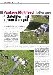 Vantage Multifeed 4 Satelliten mit einem Spiegel Halterung