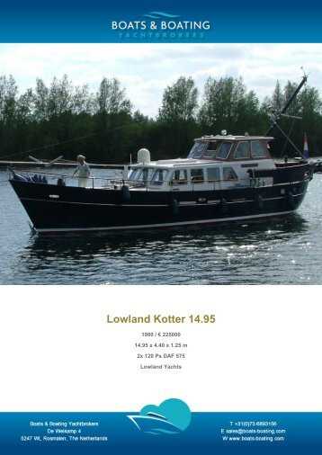 Lowland Kotter 14.95 - Boats & Boating Yachtbrokers
