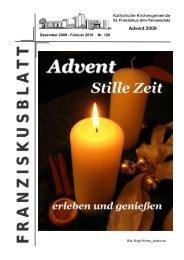 Franziskusblatt 126, Dezember 2009 - Februar 2010 - Ulm-basilika.de
