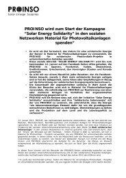 """PROINSO wird zum Start der Kampagne """"Solar Energy ... - Mecasolar."""