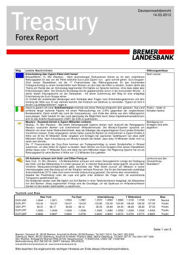 Bremer landesbank treasury forex report