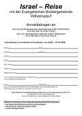 Israel - Evangelische Brüdergemeinde Wilhelmsdorf - Page 5