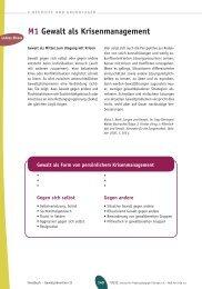 Materialien Lehrer/Eltern - Schulische Gewaltprävention