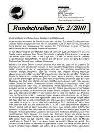 Rundschreiben Nr. 2/2010 - SV der Danziger Hochflieger