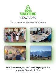 Jahresprogramm 2013/2014 - Pro Senectute Nidwalden