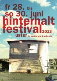 PDF/2.5MB - Hinterhalt Festival 2013
