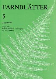 Farnblätter 5 Aug 1980 - Schweizerische Vereinigung der Farnfreunde