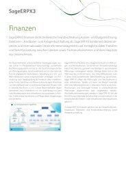 Themenblatt Sage ERP X3 Finanzen