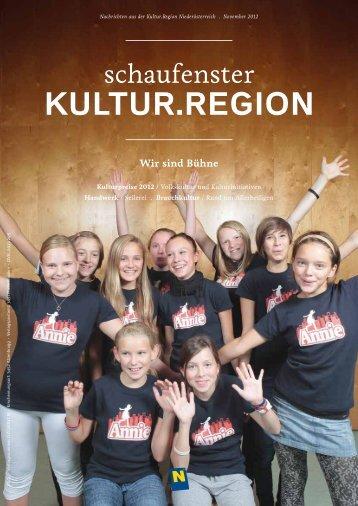 schaufenster / Kultur.Region / November 2012