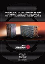 hocheffiziente luft/ wasser wärmetauscher mit ... - Rosenberg