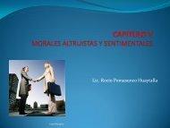 CAPITULO V MORALES ALTRUISTAS Y SENTIMENTALES