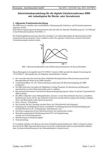 Inbetriebnahmeanleitung für das Sanftanlaufgerät MSA