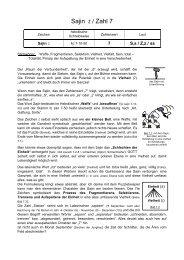Text Buchstabe Sajin - Vom Geheimnis der Buchstaben