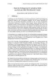 BfS-Projekt VerSi - Durchführung vergleichender ...