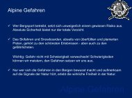 Vortrag - Alpine Gefahren - Alpiner Ski-Club St.Gallen