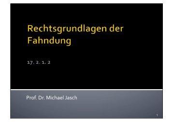 17.2.1.2 Fahndung und Ausschreibung - Michael Jasch