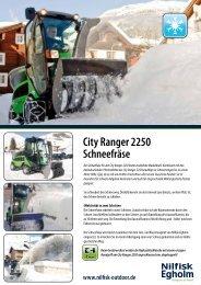 City Ranger 2250 Schneefräse - Nilfisk-Egholm